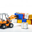 Model toy trucks shifted gifts — Foto Stock