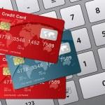 Credit card and computer keyboard — Stock Vector #4613029