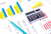 Financial Analysis with charts and data — Stock Photo