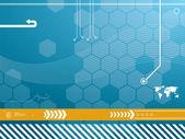 Teknoloji arka planda vektör — Stok Vektör