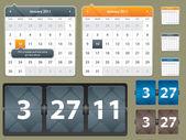 Calendar for web inferface — Stock Vector