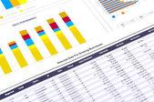 Analyse financière avec des graphiques. — Photo