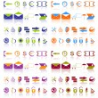 Complete set of icons. - Stock Vector