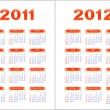 Royalty-Free Stock Vector Image: Calendar 2011,2012.