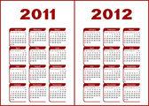 Calendar 2011,2012. — Stock Vector