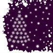 Royalty-Free Stock Imagen vectorial: Fur-tree from snowflakes.