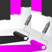 Black and pink paint. — Stock Vector