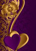 Golden Valentine. — Stock Vector