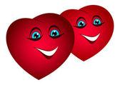 Bulk funny hearts. — Stock Vector