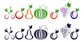 Berries and fruits. — Stock Vector