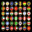 Flags-badges. — Stock Vector