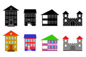 Small houses. — Stock Vector
