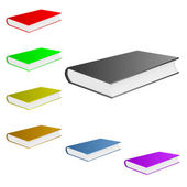 Colorful books. — Stock Vector