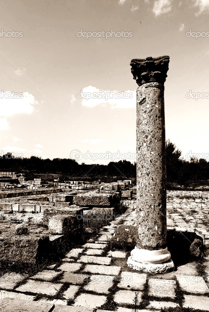 Ancient ruins Veliki Preslav Bulgarian landmark — Stock Photo #4306714