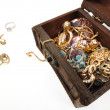 Stock Photo: Treasure chest with gold