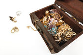 Treasure chest with gold — Foto de Stock