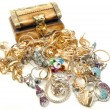 Treasure chest with jewelry — Stock Photo #4066601