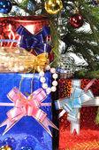 Weihnachtsbaum, Geschenke. — Stockfoto