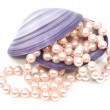 Seashell and pearls — Stock Photo #4071449