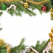 Christmas green border — Stock Photo