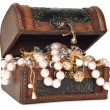 Stock Photo: Treasure chest with jewelry