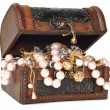 Treasure chest with jewelry — Stock Photo #4101611