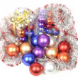 Christmas balls sets — Stock Photo