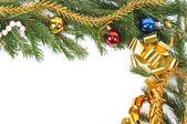 Christmas green border — Stock Photo