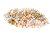 Jewelry and pearls — Stock Photo