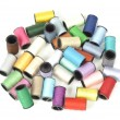 Cotton thread bobbins — Stock Photo