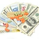 Cash for necessary medicine — Stock Photo