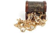 žena zlaté šperky — Stock fotografie