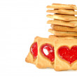 Stock Photo: Cookies with red heart