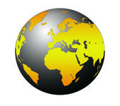 World Globe Maps — Foto de Stock