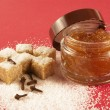 Stock Photo: Body scrub with brown sugar,spiciness l