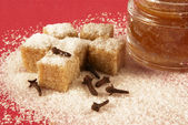Body scrub with brown sugar,spiciness l — Stock Photo