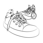 Vector sneakers — Stock Vector
