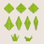Origami bird — Stock Vector