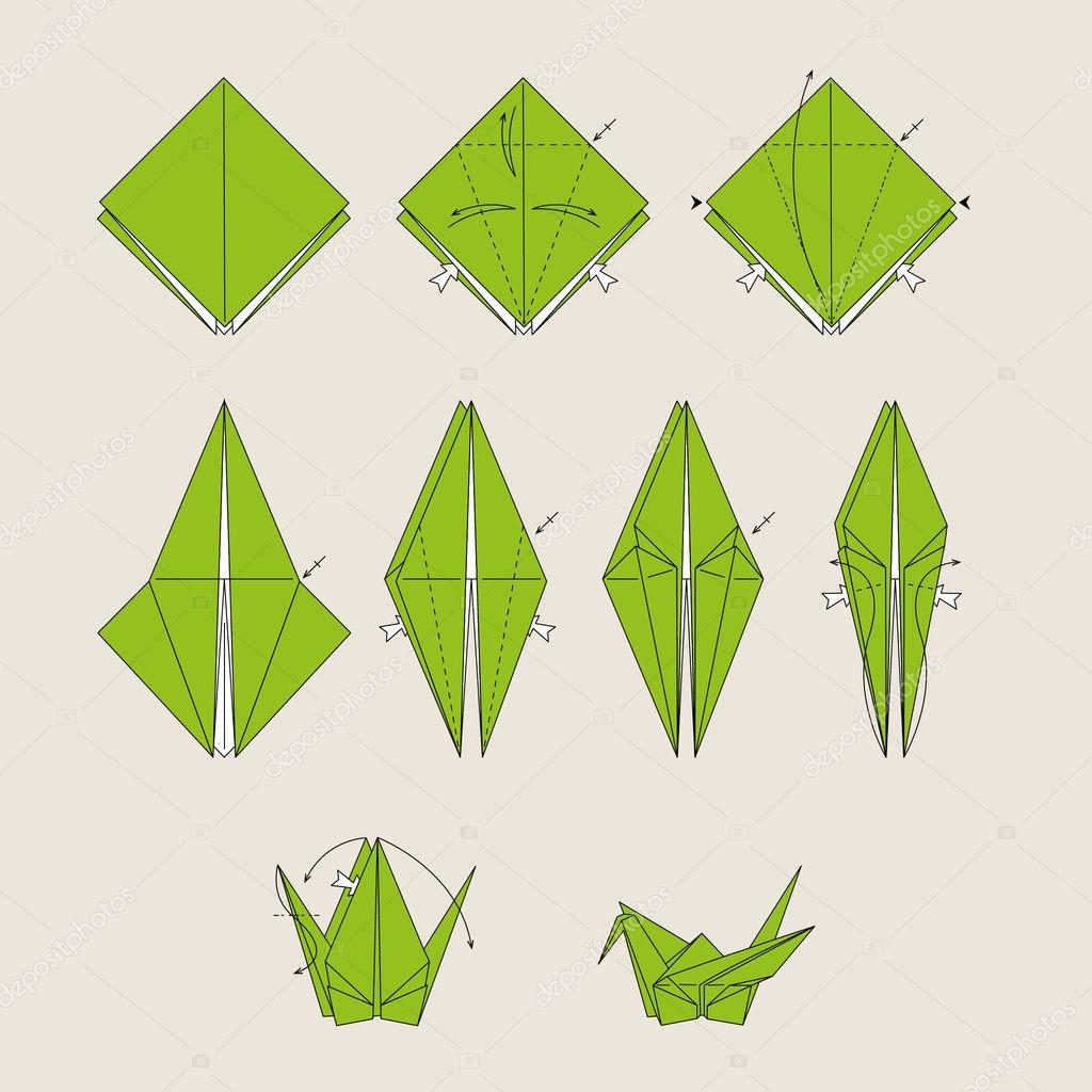 Как сделать птичку из бумаги поэтапно фото для начинающих