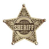 Sheriff star — Stock Vector