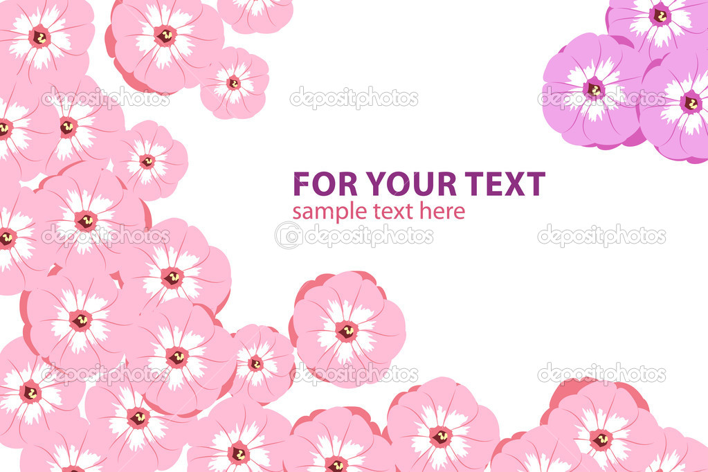 Beautiful Floral vector background (pink and violet flowers) — Stock Vector #4831330