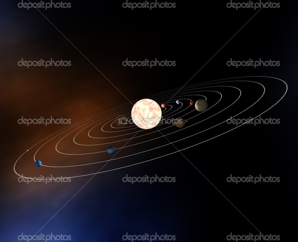 Diagram of the planets in the Solar System — Stock Photo ...