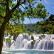 Waterfall in Krka national park in Croatia — Stock Photo #4685912
