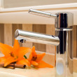 Faucet inside beautiful bathroom — Stock Photo #4001118