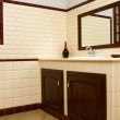 Interior of bath room in modern house — Stock Photo