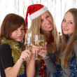 Congratulation with new year and christmas — Stock Photo