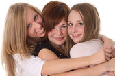 Happy teen friends - young students — Stock Photo