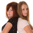 Young women friends - two fashion model. Face closeup — Stock Photo #4162643