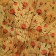图库照片: Vintage paper with flowers - background for scrapbooking