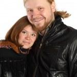 homem e mulher em casacos de inverno — Fotografia Stock  #4177838